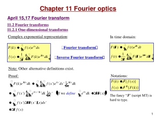 Chap 11  Fourier Series, Integrals,  Transforms.