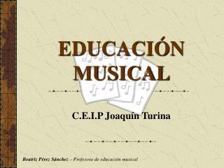 EDUCACI N MUSICAL