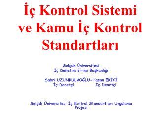 I  Kontrol Sistemi ve Kamu I  Kontrol Standartlari