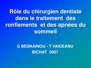 R le du chirurgien dentiste dans le traitement  des ronflements  et des apn es du sommeil