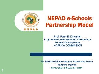 NEPAD e-Schools Partnership Model