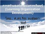 Learning Organization Development