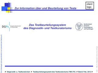 Zur Information  ber und Beurteilung von Tests