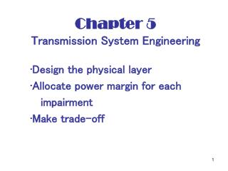 Chapter 5    Transmission System Engineering