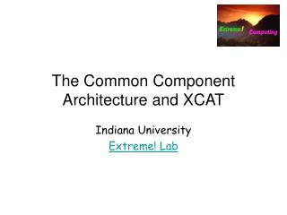 The Common Component Architecture and XCAT