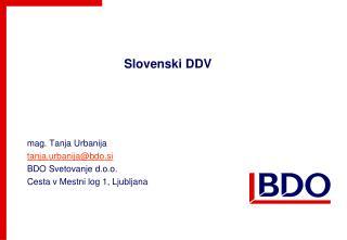 Slovenski DDV