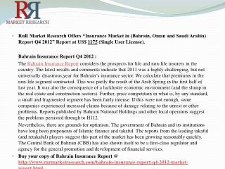 Insurance Market in (Bahrain, Oman and Saudi Arabia) Report