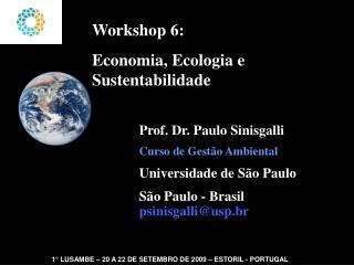Workshop 6:  Economia, Ecologia e Sustentabilidade