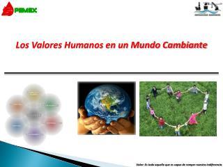 Los Valores Humanos en un Mundo Cambiante