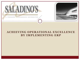 Achieving Operational Excellence By Implementing ERP