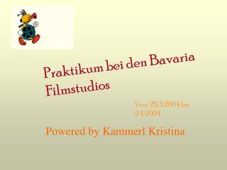 Praktikum bei den Bavaria Filmstudios