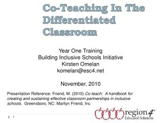 Co-Teaching In The Differentiated Classroom