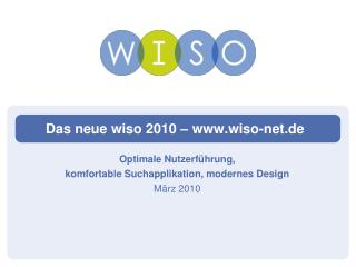 Das neue wiso 2010   wiso-net.de