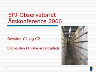 EPJ-Observatoriet  rskonference 2006