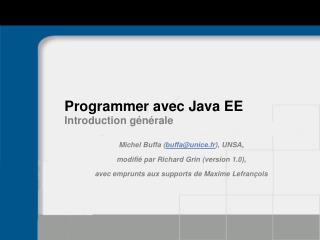 Programmer avec Java EE