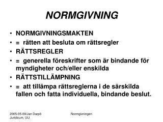NORMGIVNING