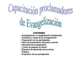 Capacitaci n proclamadores de Evangelizaci n