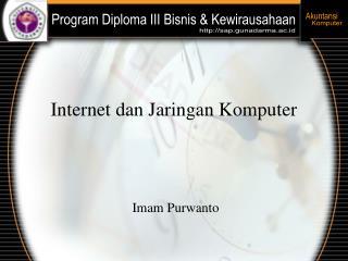 Internet dan Jaringan Komputer