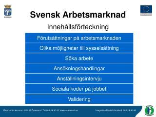 Svensk Arbetsmarknad