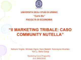 UNIVERSIT  DEGLI STUDI DI URBINO  Carlo Bo  FACOLT  DI ECONOMIA