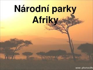 N rodn  parky Afriky