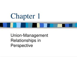 Union-Management Relationships in Perspective