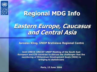 Regional MDG Info  Eastern Europe, Caucasus and Central Asia