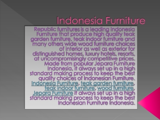 Wood furniture Teak Garden Indonesia Furniture