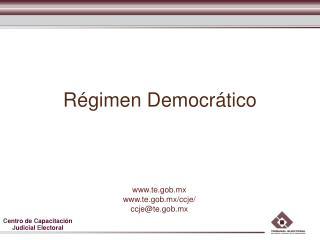 R gimen Democr tico
