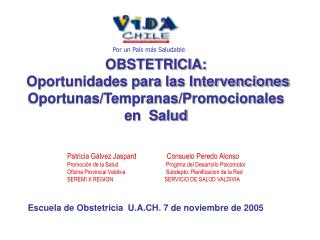 OBSTETRICIA:  Oportunidades para las Intervenciones Oportunas