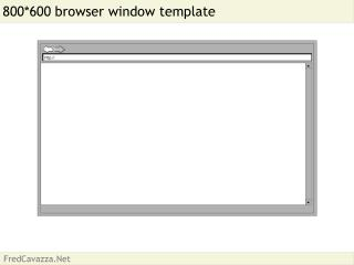 800600 browser window template