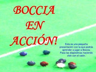 BOCCIA EN ACCI N