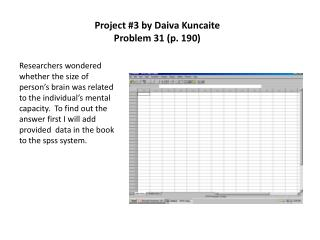 Project 3 by Daiva Kuncaite Problem 31 p. 190