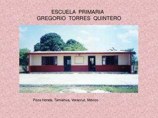 ESCUELA  PRIMARIA   GREGORIO  TORRES  QUINTERO