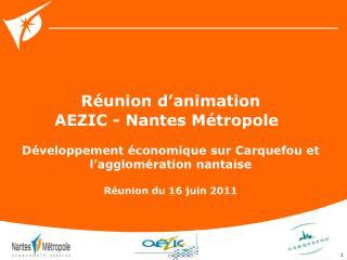 R union d animation  AEZIC - Nantes M tropole    D veloppement  conomique sur Carquefou et l agglom ration nantaise  R u