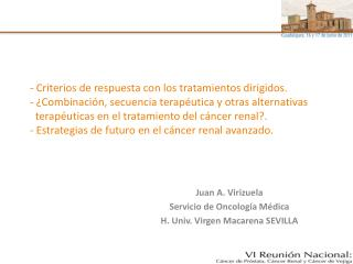 - Criterios de respuesta con los tratamientos dirigidos.  -  Combinaci n, secuencia terap utica y otras alternativas   t