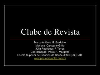 Clube de Revista