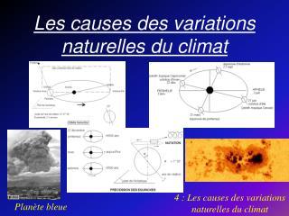 Les causes des variations naturelles du climat