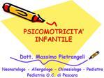 PSICOMOTRICITA   INFANTILE