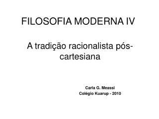 FILOSOFIA MODERNA IV