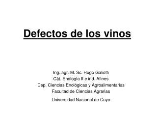 Defectos de los vinos