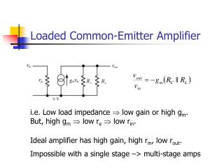 Loaded Common-Emitter Amplifier