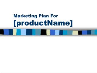 Marketing Plan For [productName]