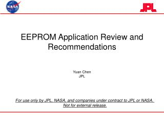 EEPROM Application Review and Recommendations