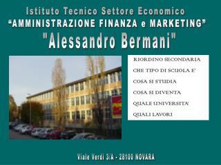 Istituto Tecnico Settore Economico   AMMINISTRAZIONE FINANZA e MARKETING