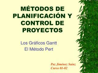 M TODOS DE PLANIFICACI N Y CONTROL DE PROYECTOS