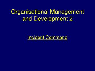 Organisational Management and Development 2