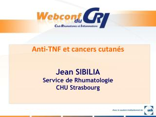 Anti-TNF et cancers cutan s