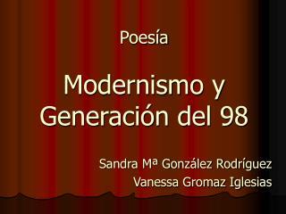 Poes a  Modernismo y Generaci n del 98
