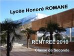 Lyc e Honor  ROMANE